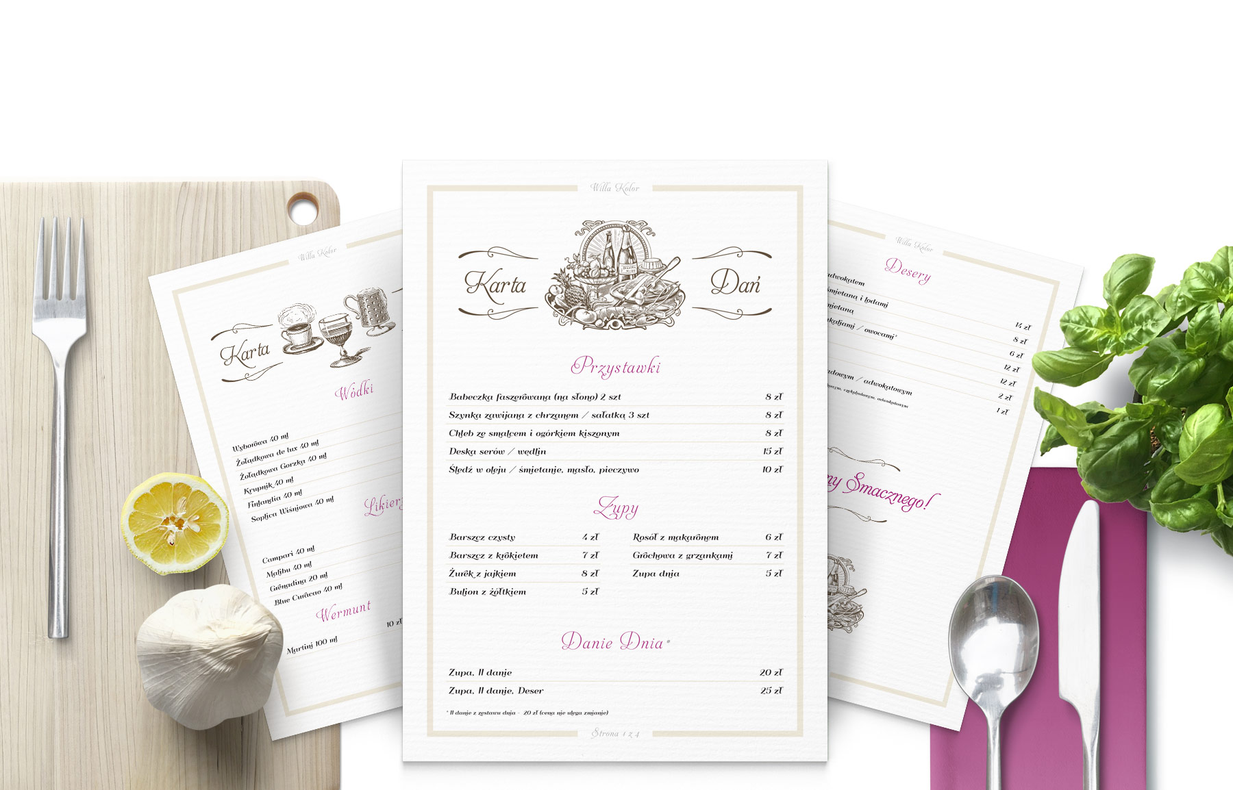 Menu Food Card Print Design